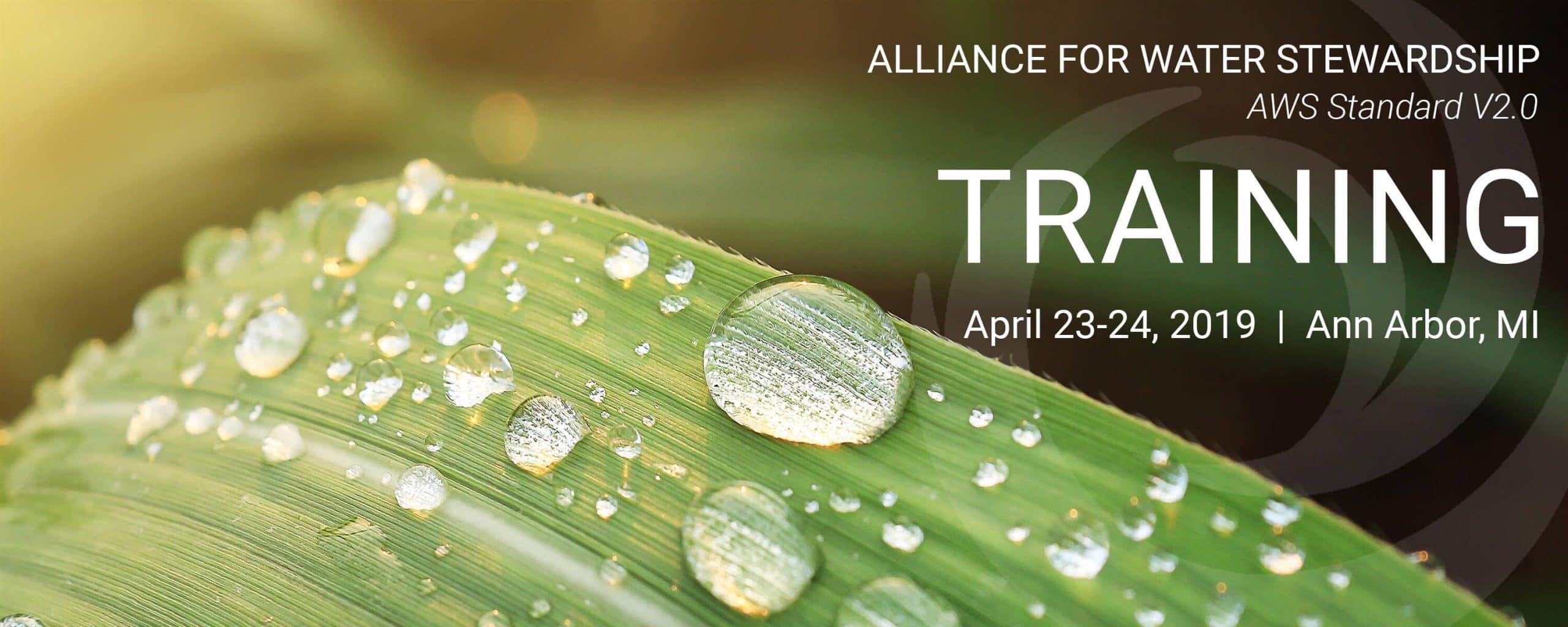 Alliance for Water Stewardship Training (AWS Standard V2 0